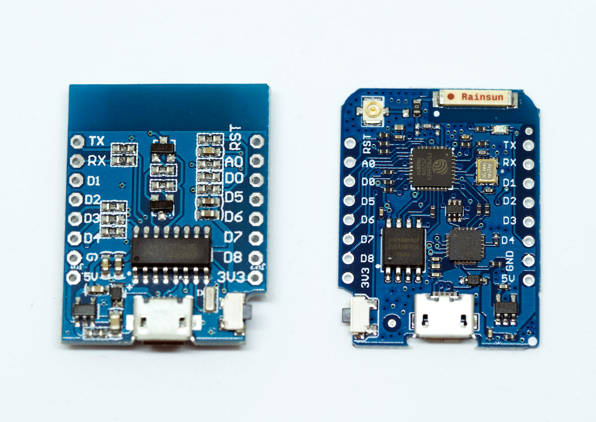 Getting started with WeMos D1 mini and WeMos D1 mini PRO
